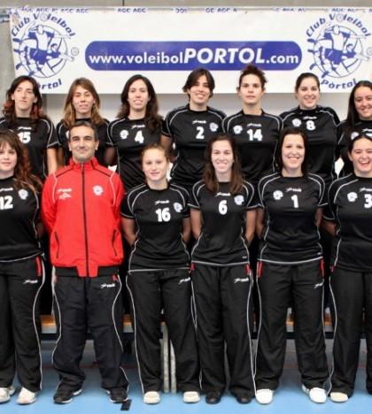 El equipo femenino de segunda Balear del CV Pòrtol.