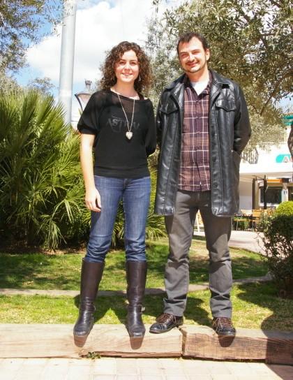 Marga Castell y Tomeu Serra, promotores, junto con Xisco Argüelles, de la cooperativa IllesArt.