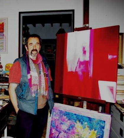 Pep Suari en su estudio taller en el carrer Major de Pòrtol.