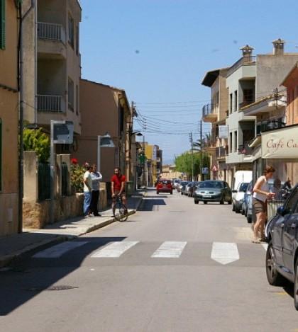 El carrer Major de Pòrtol es, según el informe de la Unitat de Trànsit de Marratxí, una de las vías más afectadas por los problemas de circulación