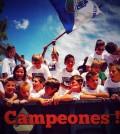 Los 'benjamines' del Sporting Sant Marçal celebran la victoria tras el partido del pasado sábado