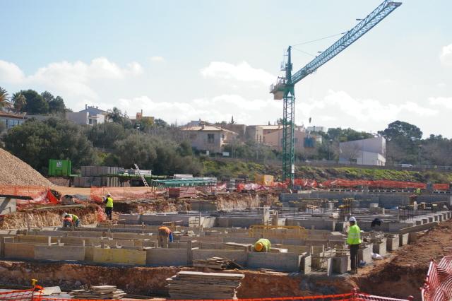 Las obras  del IES Sant Marçal se iniciaron el pasado mes de enero.