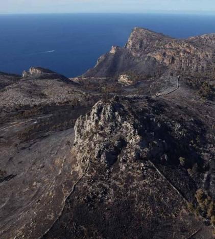 Incendio forestal en Andratx (imagen de la CAIB)