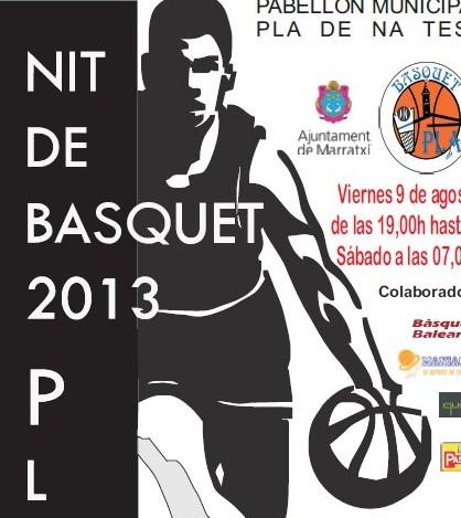 Detalle del cartel de la Nit de Bàsquet 2013
