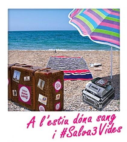 Cartel de la campaña estival de la Fundació Banc de Sang de les Illes Balears