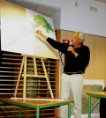 Julio Alba, el arquitecto municipal responsable de Urbanismo, durante una reunión informativa convocada por el ayuntamiento para explicar el proyecto de Son Macià
