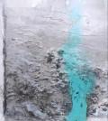 Una de las obras de la colección 'Dins de l'univers' que se expone estos días en Pollença