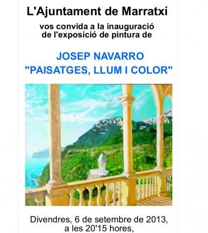 Detalle del cartel de la exposición de Josep Navarro.