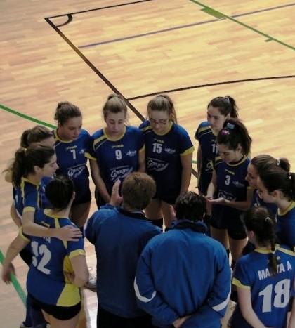 Las integrantes de la categoría cadete femenino de AE La Salle Pont d'Inca durante un encuentro anterior.