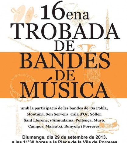 Cartel de la XVI Trobada de Bandes de Música.