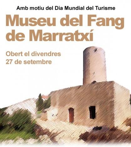 Cartel de la jornada de puertas abiertas en el Museu del Fang.