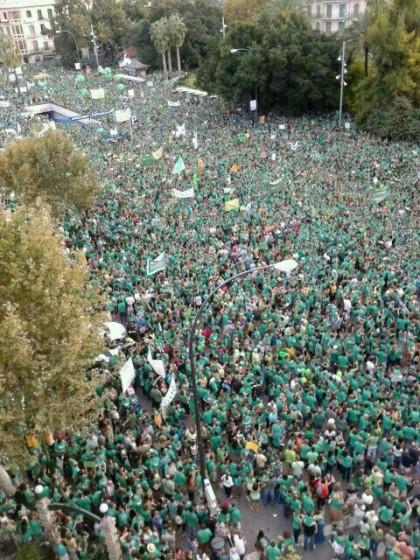 Una imagen de la manifestación de este domingo