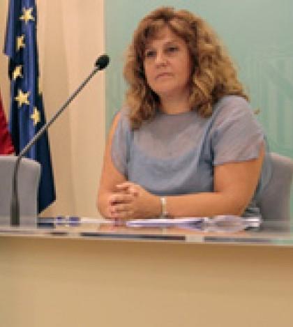 Joana Maria Camps en la rueda de prensa posterior al consell de Govern.