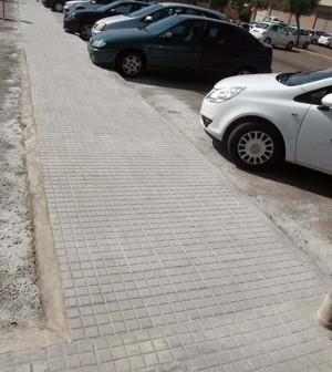Prolongación acera calle Balanguera