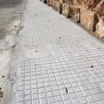 Reparación y prolongación acera calle Prunera y Melicotoner