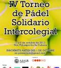 Cartel del IV Torneo de Pádel Solidario Intercolegial