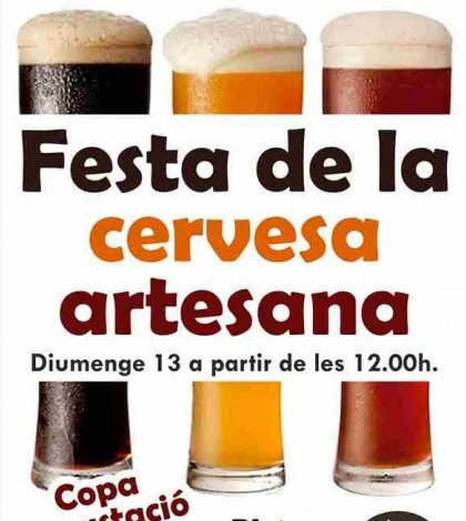 Cartel de la Fiesta de la Cerveza Artesana en Café des Cine de Pòrtol.