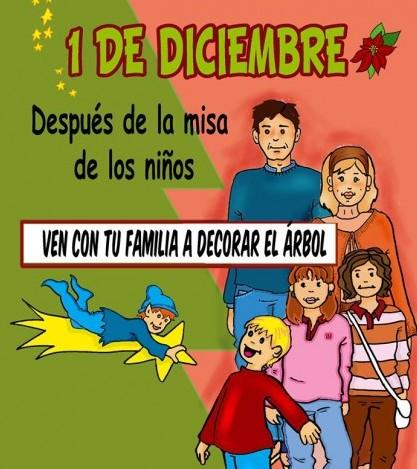 Los niños se encargarán de decorar los árboles de cara a la Navidad.