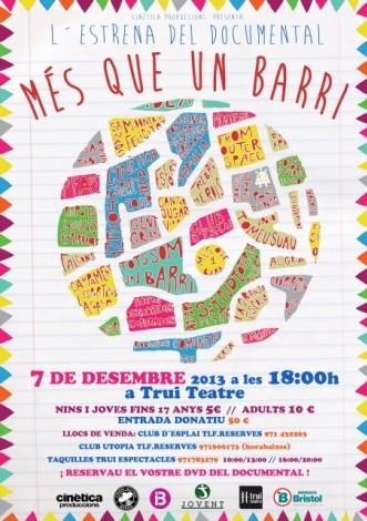 Cartel editado para la promoción del estreno de 'Més que un barri'