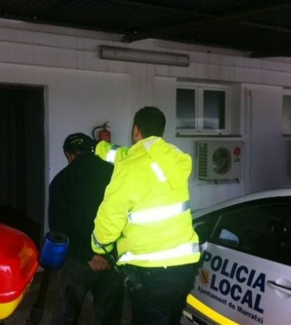 El detenido está acusado de sustraer herramientas en una obra en Marratxí.