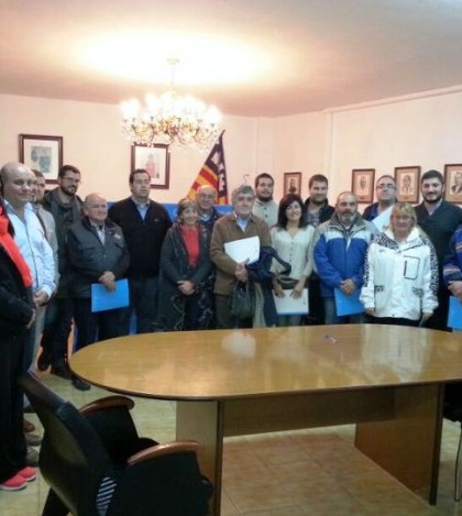 Los representantes de algunas entidades firmantes del convenio