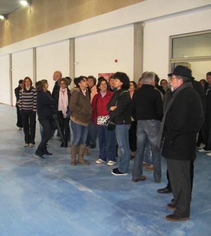 Un momento de la visita de los padres al IES Sant Marçal