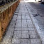 Reparación de la acera de la calle Ramon Llull (Es Pont d'Inca)