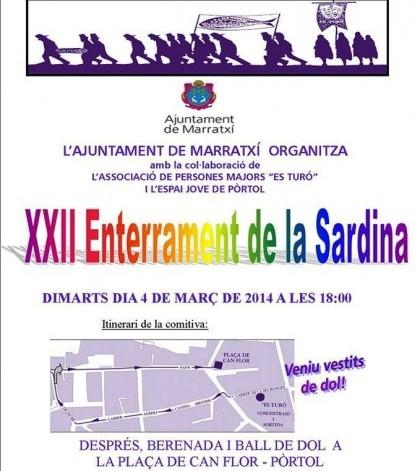 Cartel del Entierro de la Sardina en Pòrtol
