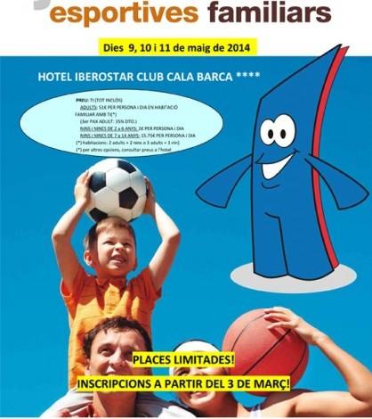 Cartel de las Estades Esportives Familiars