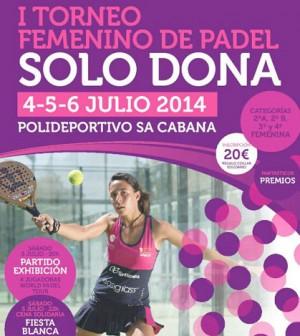 cartel torneo Solo Dona de Sa Cabana