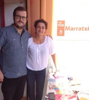 Miquel Cabot y Cristina Alonso