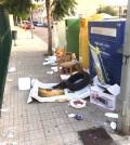 Contenedor basura residuos