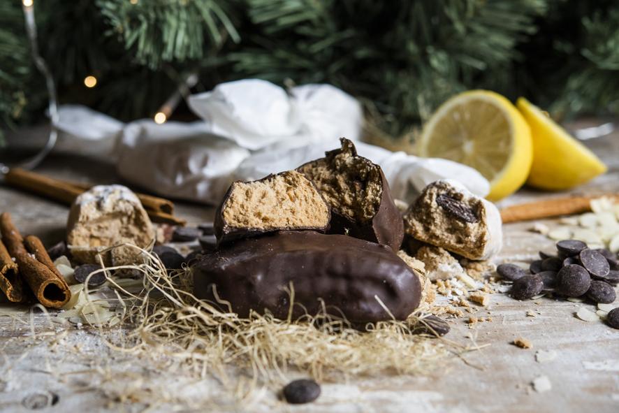 Polvorones de chocolate de Levaduramadre