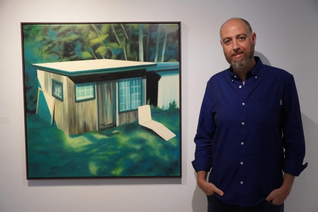 José Fiol amb l'obra guanyadora