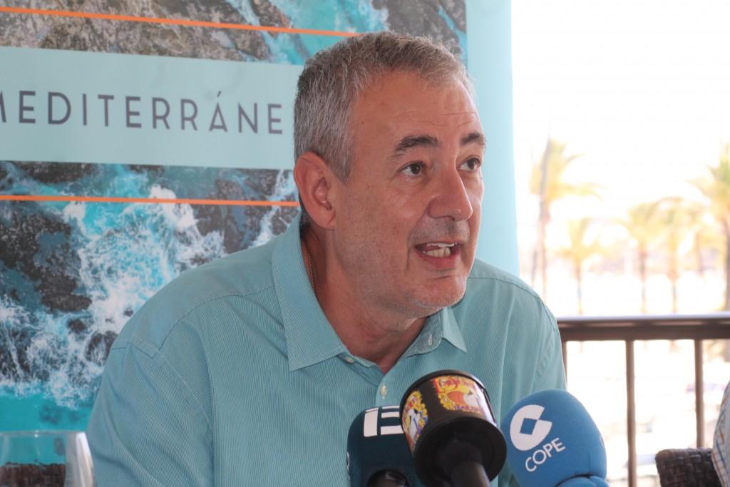 Guiem Boscana durante la rueda de prensa
