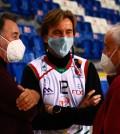 Vicenç y Biel Palmer junto a Pepe Laso