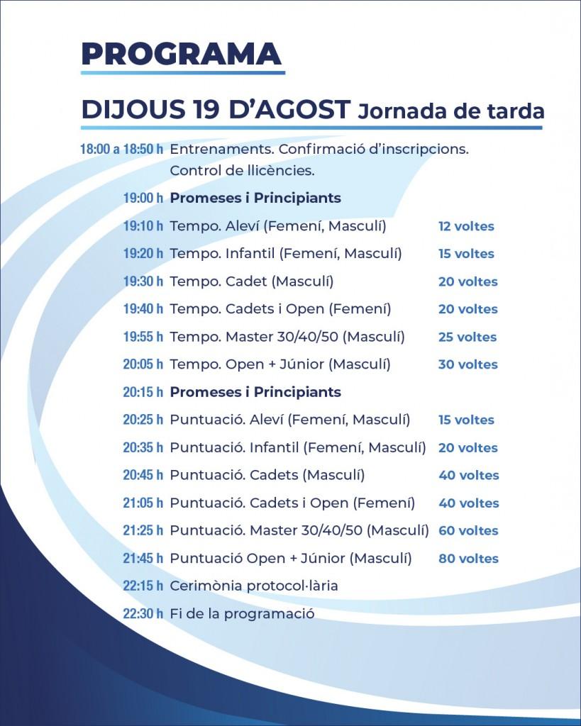 Programa Nits de Ciclisme 19 agost